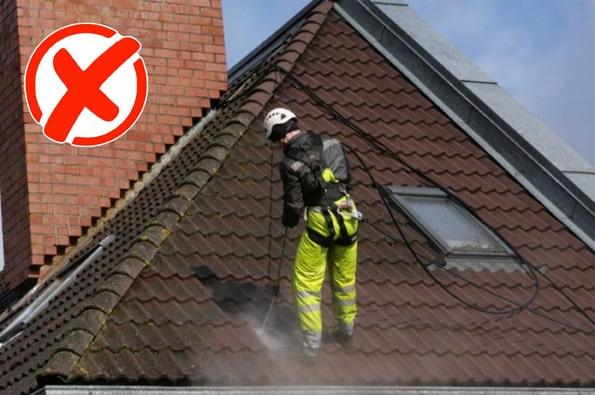 очистка крыши кёршером